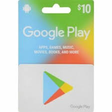 Google play 10 USD Card