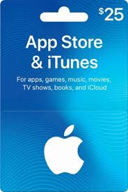 iTunes 25 USD Card
